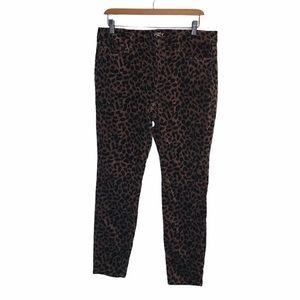 Ann Taylor LOFT Leopard Velvet Skinny Pants 31 12P